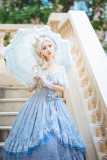 Fantastic Wind -Frozen Throne- Tea Party Princess Lolita JSK and OP Dress