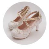 Classic Princess Round Toe 8cm High Heel Lolita Shoes