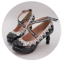 Classic Princess Round Toe 8cm High Heel Lolita Shoes