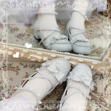 Sweet Round Toe Low Chunky Heel Lolita Shoes