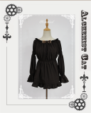 Neverland -Steampunk Cat- Punk Lolita Blouse