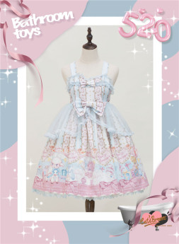 Catsbroom -Bathroom Toy- Sweet High Waist Lolita JSK Dress