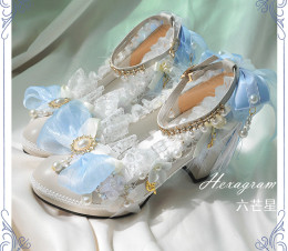 Tea Party Round Toe Sweet Lolita Heel Shoes