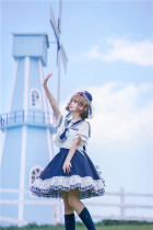 To Alice -Bobo Rabbit- Sailor Casual Lolita Blouse and Skirt