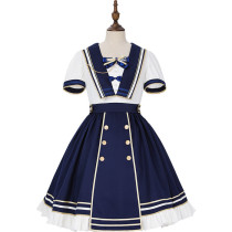 Sunny Academy Sailor Casual Lolita OP Dress