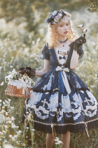 The Night Fragrance Classic Lolita OP Dress Set