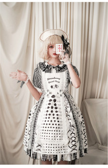 FunCcnio -Strawberry Visual Chart- Sweet Casual Lolita JSK Dress