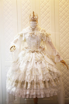 Nineodes -In the Bright Moonlight- Gorgeous Tea Party Princess Lolita JSK and Matched Blouse