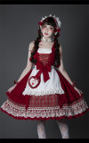 Little Red Riding Hood Classic Vintage Lolita JSK Dress and Cape