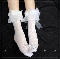 Yidhra -The Dream of Butterfly- Over Ankle Lolita Net Socks for Summer