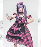 Diamond Honey - Lolita Headbow, Wristcuffs and Waist Bow