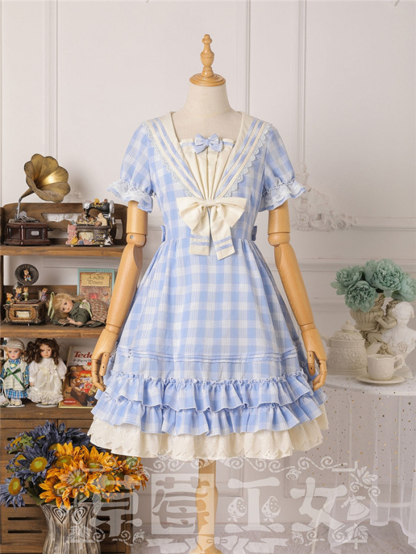 Strawberry Witch -Shadow of the Rhine- Sailor Casual Lolita OP Dress
