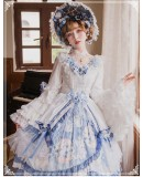 Yinluofu - Fantastic Classic Princess Lolita OP Dress and Accessories Set