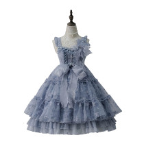 ZJ Story -Sea Moon Cross- Sweet High Waist Lolita JSK