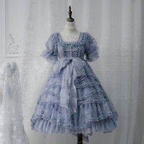ZJ Story -Sea Moon Cross- Sweet High Waist Lolita OP Dress