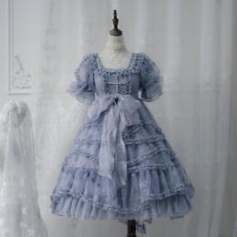 ZJ Story -Sea Moon Cross- Sweet High Waist Lolita OP Dress