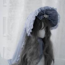 ZJ Story -Sea Moon Cross- Lolita Bonnet and Hairclip