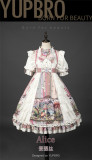 Alice High Waist Sweet Lolita OP Dress and Rabbit Headwear