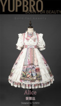 Alice High Waist Sweet Lolita OP Dress and Rabbit Headwear