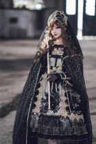 Sika Lolita -Nightmare at Dawn- Elegant Classic Gothic Lolita OP Dress Version II