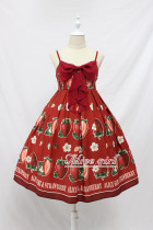 Alice Girl -The Strawberry- Christmas Sweet Lolita JSK