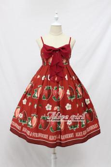 Alice Girl -The Strawberry- Christmas Sweet Lolita JSK