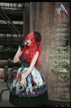 Milu Orig -Hell Angel- Halloween Gothic Punk Lolita JSK