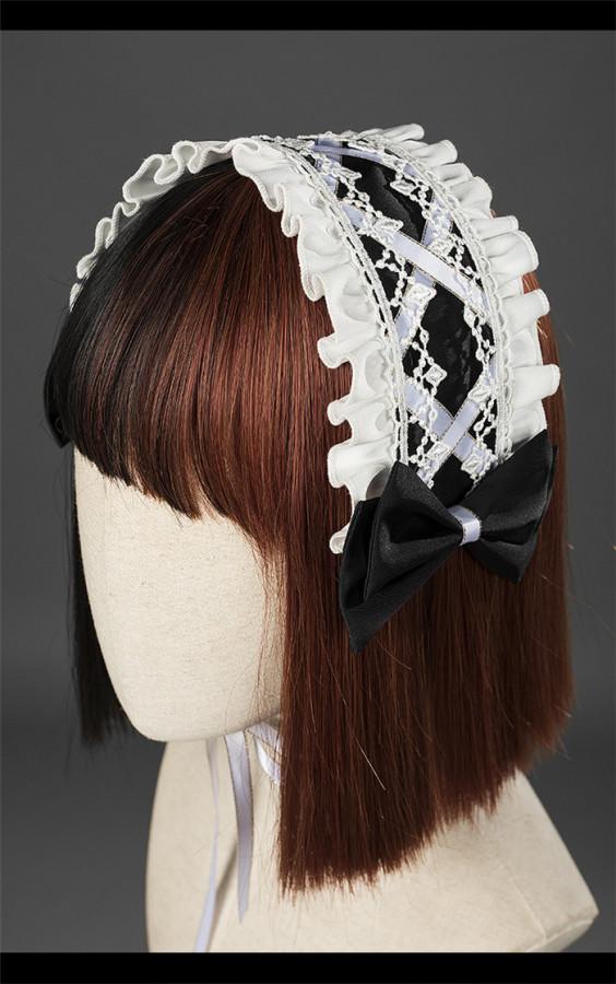 Eternal Night Gothic Lolita Bonnet and Headband