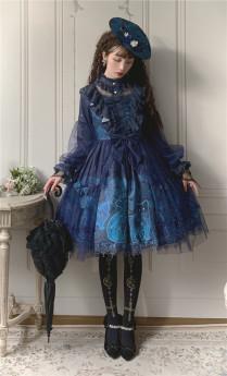The Star Lolita -Star Whisperer- Vintage Classic Lolita OP Dress