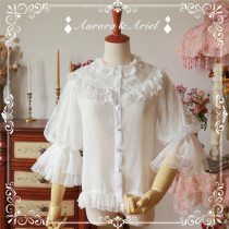Aurora Ariel -Night Candle- Puffy Sleeve Chiffon Lolita Blouse