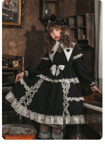 Day and Night Forest Gothic Lolita OP Dress