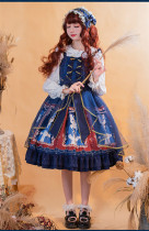 Brocade Garden -Lady Cat- Sweet Lolita JSK