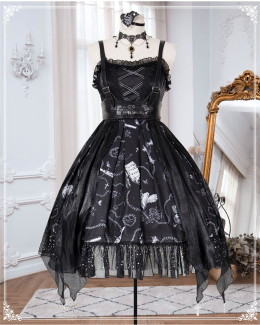 The Vampire Diaries Halloween Gothic Lolita JSK Full Set