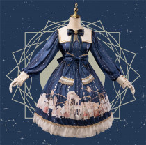 Uwowo -Astrologer Parthenon- Sweet Lolita OP Set