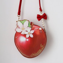 Morning Glory -An Apple- Sweet Lolita Crossbody Shoulder Bag
