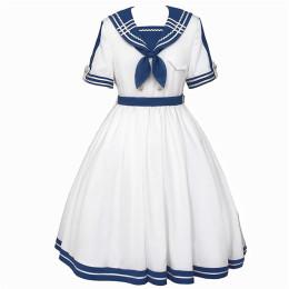 Withpuji -The Sea Wind- Sailor Lolita OP Dress