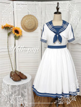 Withpuji -The Sea Wind- Sailor Lolita OP Dress