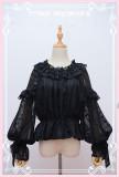 Classic Vintage Chiffon Puffy Sleeve Lolita Blouse