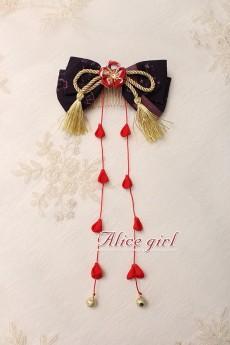 Alice Girl -The Crane- Wa Lolita Headbow and Hairclip