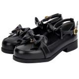 Angelic Imprint - Round Toe PU Low Heel Sweet Lolita Flat Shoes