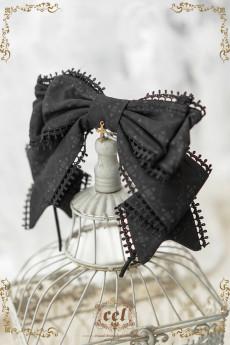 CEL -The Holy Cross- Classic Lolita Accessories(Head Bow, Brooch, Waist Belt, Bonnet)