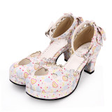 Angelic Imprint - Round Toe Sweet Lolita Heel Shoes with Bow