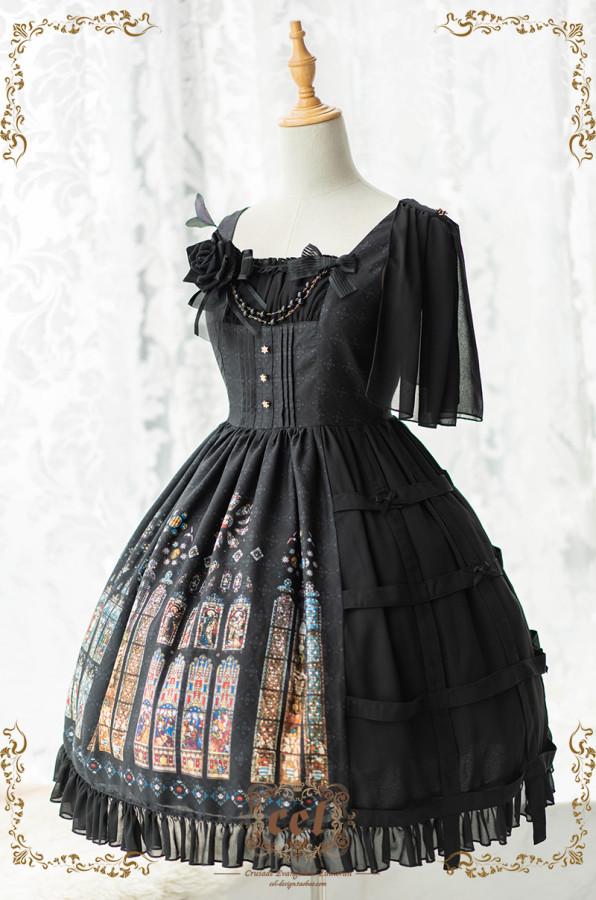 CEL -The Holy Cross- Classic Lolita JSK Jumper Skirt Dresses