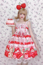 Diamond Honey -Cherry Bear- High Waist Sweet Lolita JSK