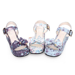 Angelic Imprint - Happy Cat Sweet Platform Lolita Sandals