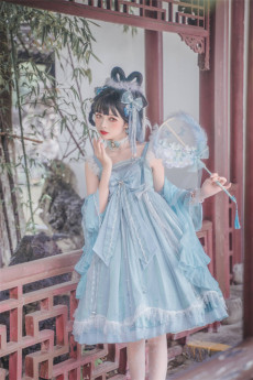 Cloud and Sea Qi Lolita JSK Full Set