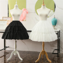 Lace and Chiffon Bell Shape 55cm Long Adjustable Puffy Level Lolita Petticoat