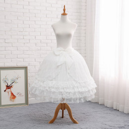 Lace and Chiffon Bell Shape 78cm Long Adjustable Puffy Level Lolita Petticoat