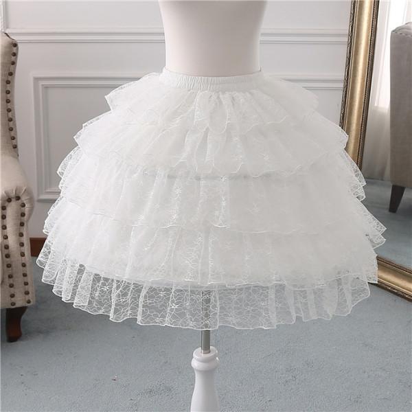 Lace Bell Shape 53cm Long Adjustable Puffy Level Lolita Petticoat