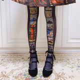Ruby Rabbit -The Holy Cross- Lolita Tights for Spring and Autumn